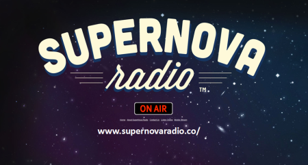 SuperNova Radio Logo with web address
